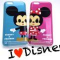 かわいいディズニーキャラクターのミラー付き&ICカードが入るiPhone6ケース