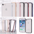 シンプルにiPhone8を保護するアルミバンパーと背面パネルのセット(シルバー、ゴールド、ピンク、ブラック、レッド、ネイビーの6色)